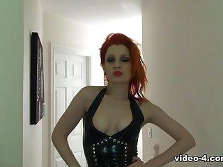 Ulorin Exacerbate in Black Dress and Stockings - LatexHeavenVideo